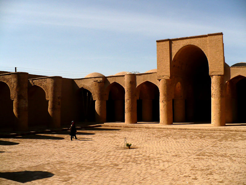 Tarikhaneh mosque in Damghan, the probably oldest mosq in Iran.