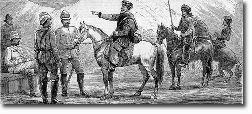 An English General meets a Pathan Chief in 1879 - ILN